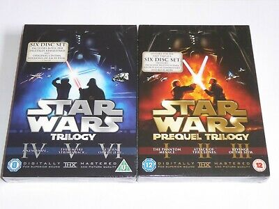 Star Wars: The Original + Prequel Trilogy Collection NEW SEALED DVD SETS 12 Disc
