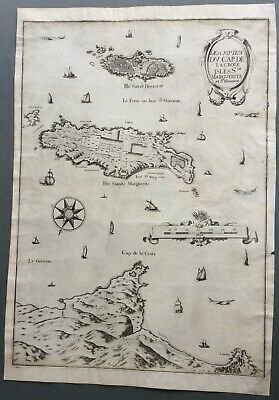 c.1638 map of Cannes and the Lerin Islands