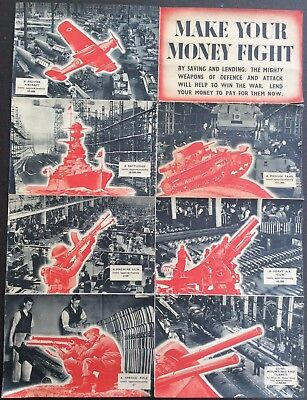 "Rare WW2 ""Save and Lend"" campaign poster issued by by HM Stationery Office"