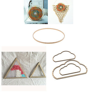6 Pieces Wooden Triangle Knitting Loom Art Crafts DIY Weaving Tools Handmade