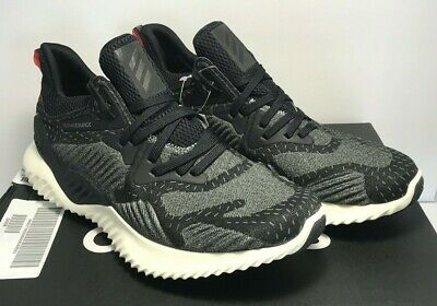 Adidas Mens Size 10.5 Alphabounce Beyond Core Black Green Running Shoes DB1124