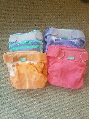 4 Tots Bots Bamboozle Stretch Size 2 Bamboo Cloth Nappies Oeko-Tex