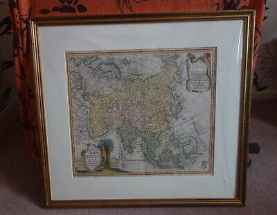A original 18th century map of Asia from Leonard Euler.
