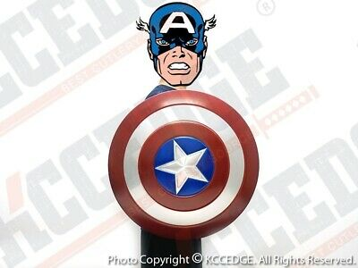 1:1 scale Captain America Aluminum Shield Replica Cosplay Collectible w/ Stand