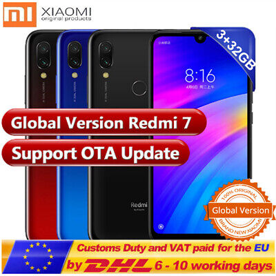 """6.26"""" Xiaomi Redmi 7 4G Smartphone Android 9.0 8-Core 3+32Go Face ID Noir Global"""