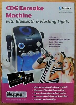 Mr Entertainer CD CDG Party Karaoke Machine with Bluetooth & Flashing LED Lights