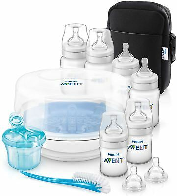 Avent BOTTLE FEEDING ESSENTIALS SET Baby Bottle Feeding Supplies BN