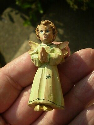 Vintage Small Carved Figure Of An Angel - Possibly Black Forest