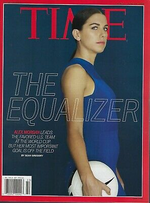 Time Magazine June 3, 2019  Alex Morgan US Women's Soccer On and Off the Field