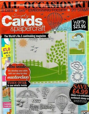 """New """"Simply Cards & Papercraft"""" Issue #189~Free Dies-Embossing Folder-Stamps"""