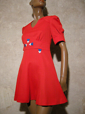 Vintage Chic Dress Pop 1970 Vtg Dress 70s Dress 70er Abito Anni 70 Vestido (8/10