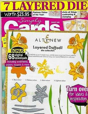 """New """"Simply Cards & Papercraft"""" Feb 2019-Issue #188~Free 7 Layer Dies!"""