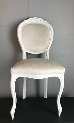 French Louis Style Dining Chair Laura Ashley Villandry Off White Fabric