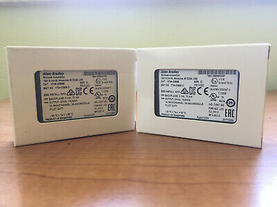 New lot of two (2)Allen-Bradley 1734-OB8E PLC 8 Point 24V DC  Output Module