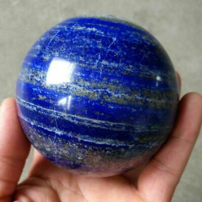 40mm Natural Blue Lapis Lazuli Crystal Ball Healing Sphere Gemstone with Stand