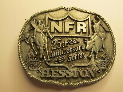 25th ANNIVERSARY - 1st EDITION - HESSTON - NFR - BELT  BUCKLE - Used