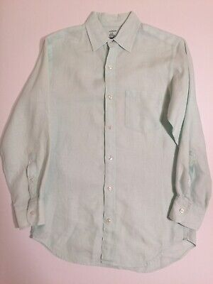 2f0633ca J Crew Baird McNutt Irish Linen Slim Fit Button Down Shirt Seafoam Green  Mens XS