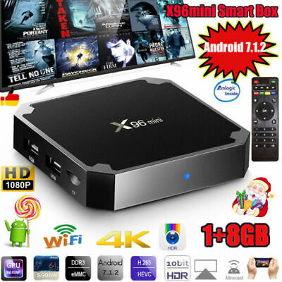X96 mini Android 7.1.2 Smart TV Box 8GB S905W Quad Core WIFI 4K HD Media L7S5