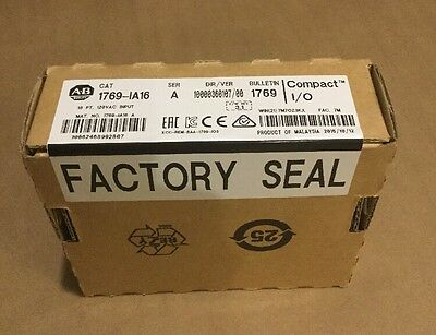 New! Factory Sealed Allen-Bradley 1769-IA16 120 VAC Input Module