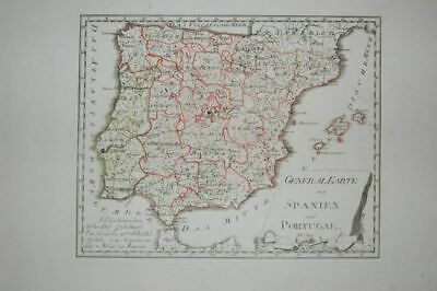 General Map of Spain and Portugal. Map No. 524 from Atlas by Reill