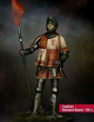 Scale 75 Middle Ages Mini 75mm Castilian Standard Bearer, 15th Century Box SW