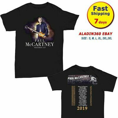 Paul McCartney Shirt 2019 Freshen Up Concert Tour T-Shirt size Men Black Gildan