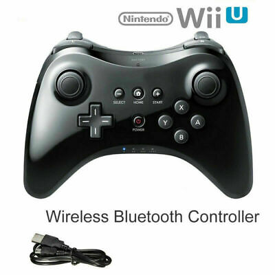 For Nintendo Wii U Pro Wireless Gamepad Hand Joypad Remote Controller w/ Cable