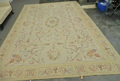 STARK Weave Wool AUBUSSON Needlepoint Classic Floral Area Rug Carpet 209x142 in
