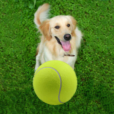 "9.5"" Big Giant Pet Dogs Tennis Ball Play Toy Tennis Ball Dog Thrower Chew Toy"