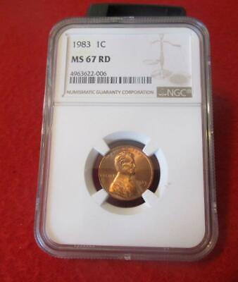 1983  NGC MS 67 RD Red Lincoln Memorial Cent                            #MF-1472
