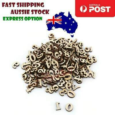 100pcs Wooden Numbers 15mm High Alphabet Art DIY Craft Wood Mathematics Learning