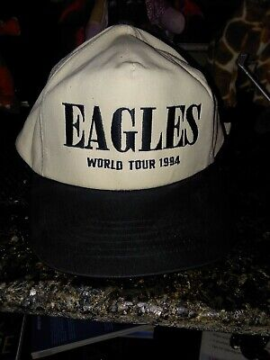 57850b0f17d7cf Vintage 1994 Eagles Hell Freezes Over World Tour Snapback Hat Distressed &  Worn