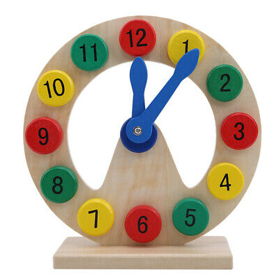 Wood Puzzle Digital Number Wooden Clock Early Learning Children Toys Game JJ