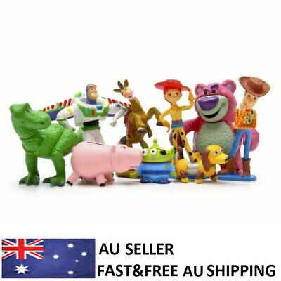 Toy Story Woody Buzz Jessie Dinosaur Lotso Action Figure Toys Cake Toppers 9 PCS