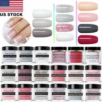 10ml Chameleon Dipping Powder System Liquid Pro Nail Art NO UV Kit Natural Dry