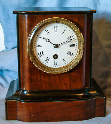 *Antique - French, 8 day, Wooden Mantel Clock* - Circa 1870 - 1880