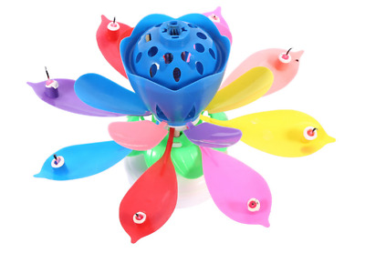 """Magical Birthday Candles Soccer Ball /""""Trophy Style/"""" Blue /& White Cake Topper"""