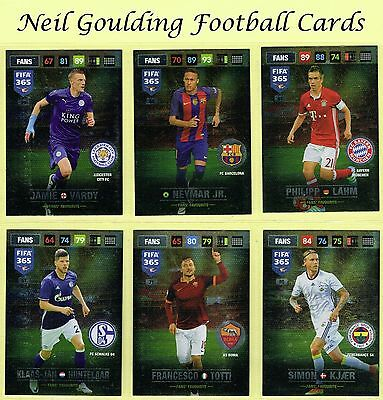 Panini FIFA 365 2016-2017 ☆ FANS FAVOURITE [Nordic] ☆ Football Cards #46 to #81