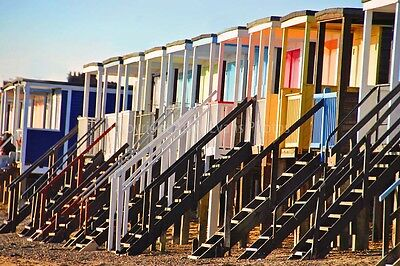 Thorpe Bay beach huts Southend Essex England photograph picture poster art print