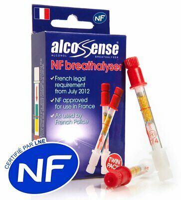 AlcoSense French NF Certified Breathalyzers for France Breathalysers (Twin Pack)