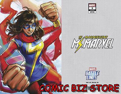 Magnificent Ms Marvel #3 (2019) 1St Printing Sujin Jo Battle Lines Variant Cover