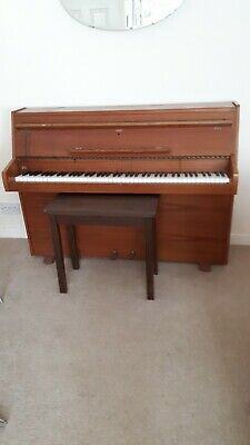 Antique Furniture Benches/stools Upright Victorian Piano With Fluting And Inlaid Decoration Well Loved And Used.