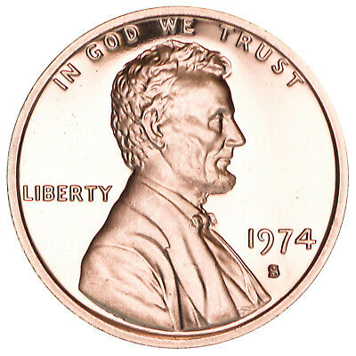 1974 S Lincoln Memorial Cent Gem Proof Penny