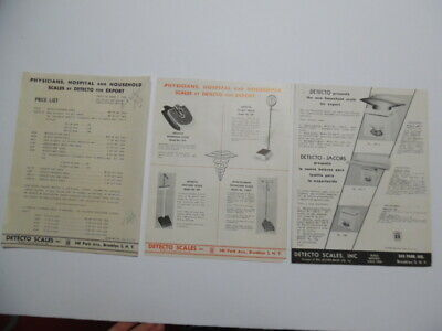 1949 Detecto Scale Catalog Sheet Lot Doctor Medical Household Brooklyn Vintage