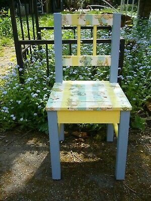Childrens Childs Peter Rabbit Wooden Chair Decoupaged