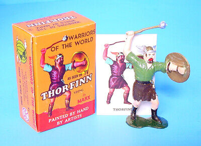 1963 Marx Usa Boxed! Warriors Of The World #5 Thorfinn Viking Fig Hand Painted!