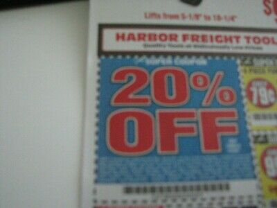 Harbor Freight 20% off plus more discount coupon expire sept  2019