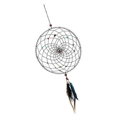 Large Indian Native Dream Catcher Crushed Stone Wall Window Home Hanging