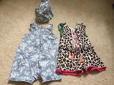 Next Baby Gorgeous Girls 2 X Romper Suits 3-6 Months