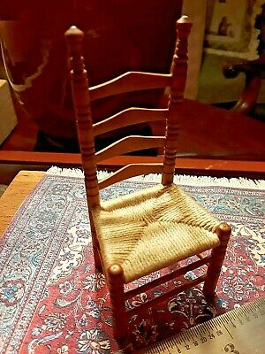 ONE OF A KIND SHAKER CHAIR,  RARE ARTIST SIGNED ,  DOLL HOUSE SIZE 1:12 scale